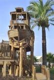 El patio de la nave de madera en hotel turco Imágenes de archivo libres de regalías
