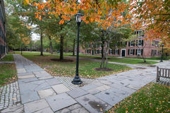 El patio en el campus viejo en Yale University en otoño Imagenes de archivo