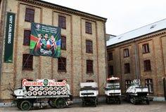 El patio en la cervecería de Carlsberg en Copenhague Imagen de archivo libre de regalías