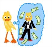 El pato se casa stock de ilustración