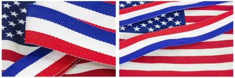 El patriotismo América colorea el collage de la celebración Fotos de archivo libres de regalías