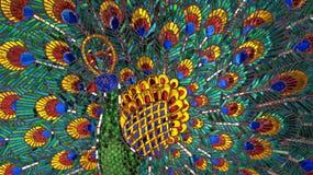 El pavo real ofrece arte exótico Imagen de archivo