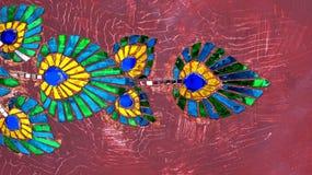 El pavo real ofrece arte exótico Foto de archivo libre de regalías