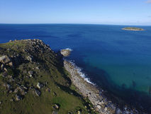 El peñasco en la bahía Victor Harbor del encuentro Imagen de archivo