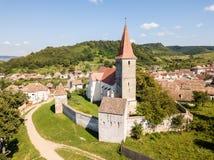 El PE Tarnave, iglesia fortificada, Transilvania, Rumania de Saros medie imágenes de archivo libres de regalías