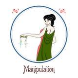 El pecado de la manipulación stock de ilustración