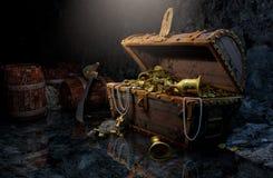 El pecho del pirata Stock de ilustración