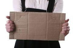 El pedazo de cartulina con el lugar vacío imagenes de archivo