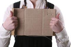 El pedazo de cartulina con el lugar vacío Fotografía de archivo libre de regalías