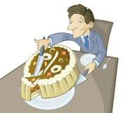 El pedazo de empanada grande ilustración del vector