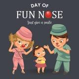 El pediatra de la historieta examina el cartel del niño Ilustración del Vector