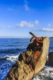 El peine de Peine del Viento The del viento es una colección de tres esculturas de acero de Eduardo Chillida, terminó en 1976 imagenes de archivo