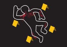 El peligro de la escena del crimen graba el ejemplo ilustración del vector