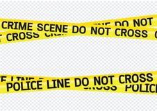 El peligro de la escena del crimen graba el ejemplo stock de ilustración
