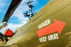 El peligro guarda el sitio militar ausente Fotografía de archivo libre de regalías