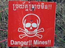 El peligro mina la señal Fotos de archivo