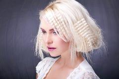 El pelo asombroso hace Foto de archivo