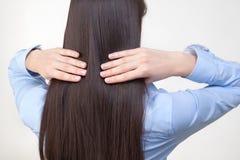 El pelo de la mujer Fotos de archivo libres de regalías