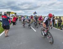 El Peloton al inicio del Tour de France 2016 Imagen de archivo