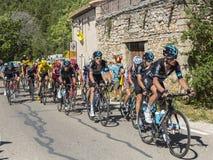 El Peloton en Mont Ventoux - Tour de France 2016 Imagen de archivo
