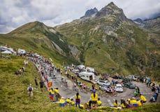 El Peloton en montañas Fotografía de archivo libre de regalías