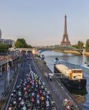 El Peloton en París Fotos de archivo libres de regalías