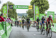 El Peloton - Tour de France 2017 Fotos de archivo