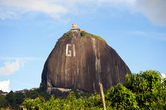 El Pen�ol rock in Colombia Royalty Free Stock Photo