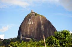El Peñol rock in Colombia Royalty Free Stock Photo