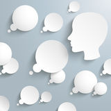 El pensamiento burbujea cabeza humana Infographic Imagen de archivo