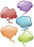 El pensamiento burbujea los iconos Imagen de archivo libre de regalías