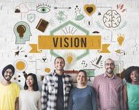 El pensamiento de la motivación de la inspiración de Vision piensa concepto imagen de archivo libre de regalías