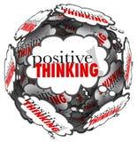 El pensamiento de pensamiento positivo de las palabras se nubla la esfera libre illustration