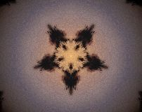 El pentágono abstracto sacó ejemplo de la mandala 3D Fotografía de archivo libre de regalías