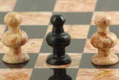 El peon del traidor en ajedrez fotografía de archivo
