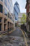 El pepinillo, edificio de cristal corporativo en Londres. Foto de archivo libre de regalías