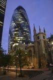 El pepinillo, Londres, Inglaterra Imagen de archivo libre de regalías