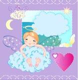 El pequeño ángel ilustración del vector