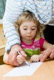 El pequeño artista. Fotografía de archivo