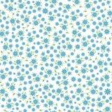 El pequeño azul florece el modelo inconsútil Fotos de archivo