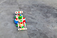 El pequeño coche de competición del lego del constructor Fotos de archivo libres de regalías