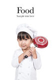 El pequeño cocinar feliz lindo del bebé imagen de archivo libre de regalías