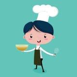 El pequeño cocinero lindo Imagen de archivo libre de regalías