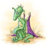 El pequeño dragón verde Imagen de archivo