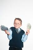 El pequeño hombre de negocios Foto de archivo libre de regalías