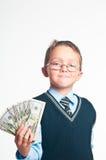 El pequeño hombre de negocios Fotos de archivo