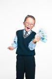 El pequeño hombre de negocios Imágenes de archivo libres de regalías