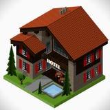 El pequeño hotel stock de ilustración