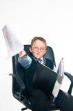 El pequeño jefe Imagen de archivo libre de regalías