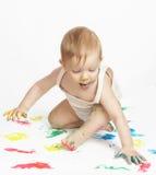 El pequeño pintor Imagenes de archivo